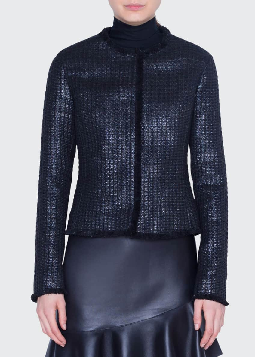 Akris punto Lacquered Tweed Jacket & Matching Items