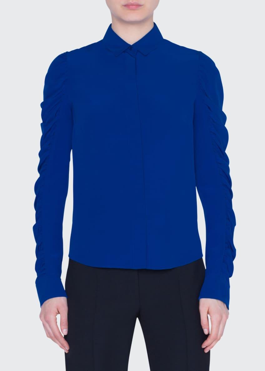 Akris punto Silk Button-Front Blouse & Matching Items