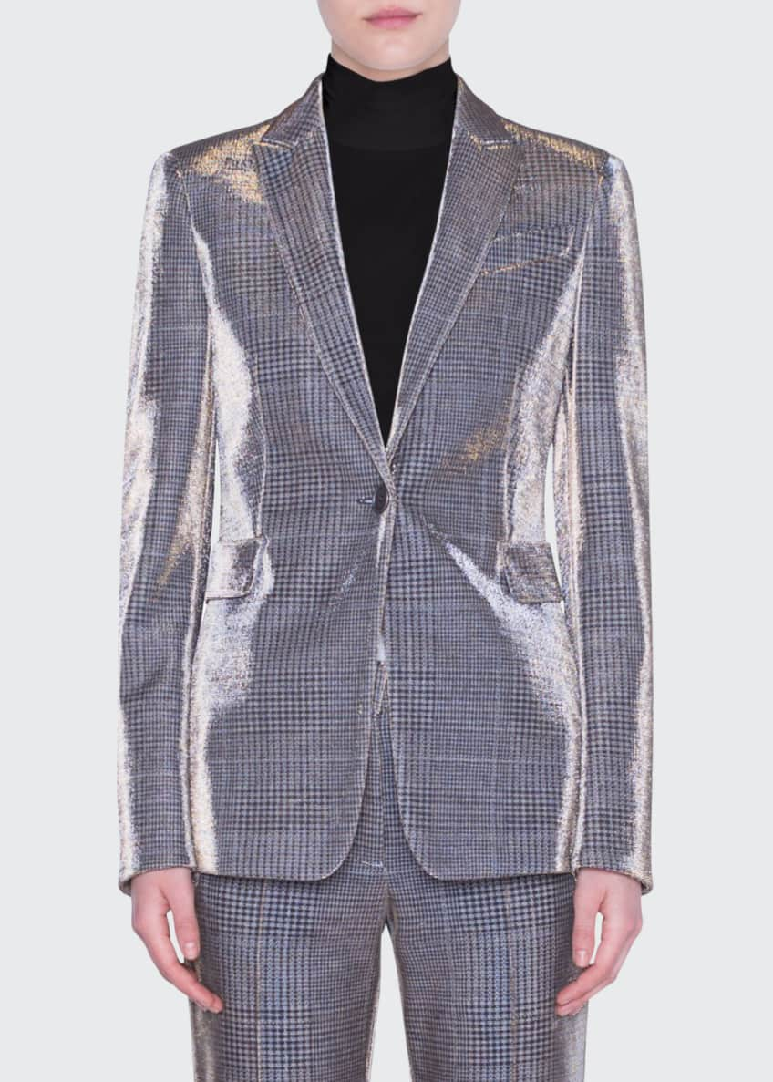 Akris punto Metallic Glen Check Jacket & Matching
