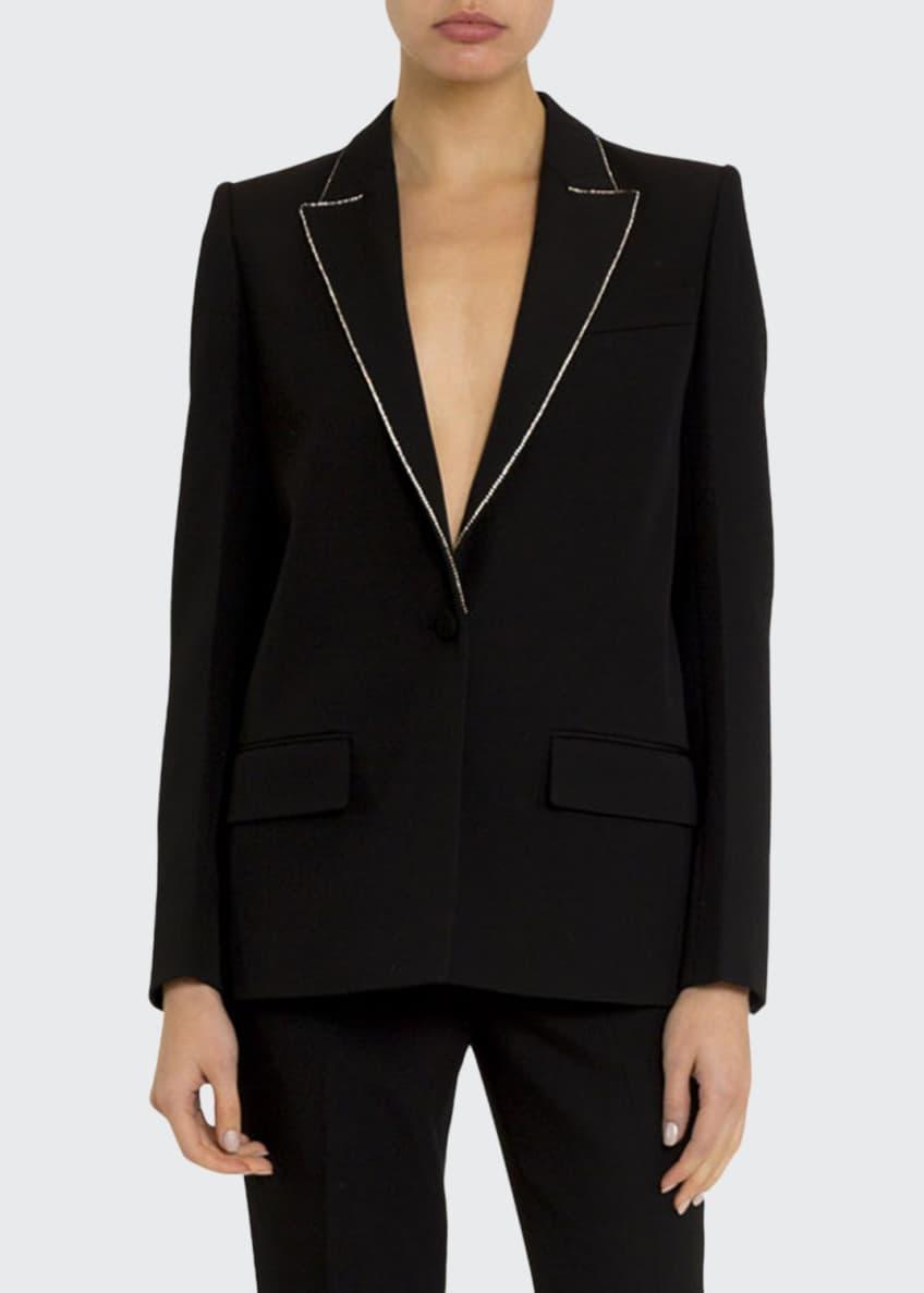 Givenchy Crystal-Trim Wool Blazer & Matching Items