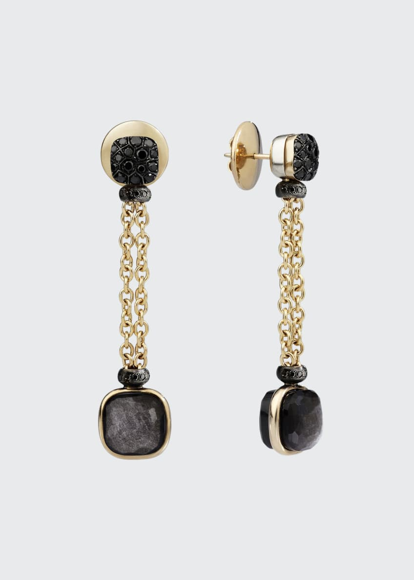 Pomellato Nudo 18K Obsidian & Black Diamond Drop
