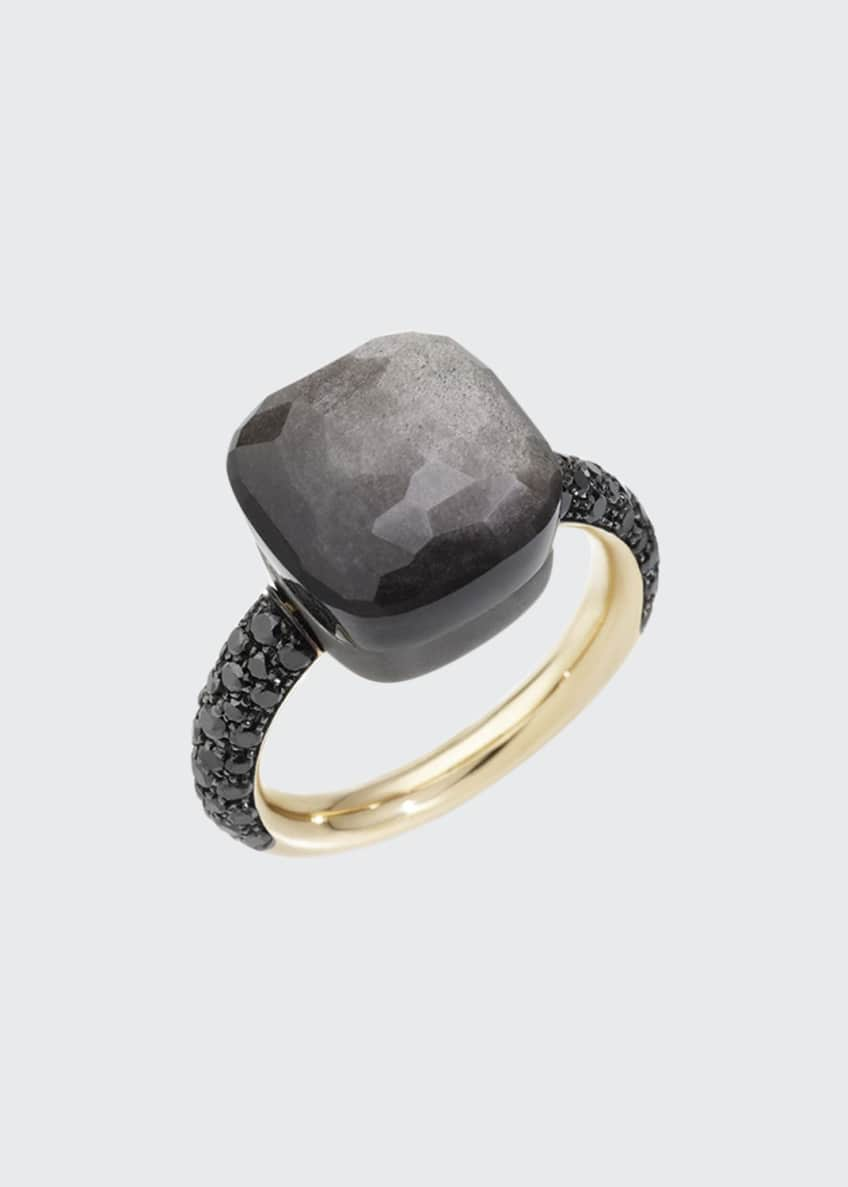 Pomellato NUDO 18k Rose Gold/Titanium Maxi Obsidian &