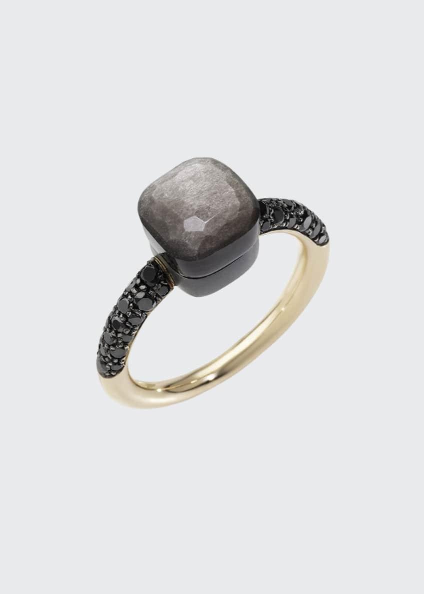 Pomellato NUDO 18k Gold/Titanium Petite Obsidian & Black