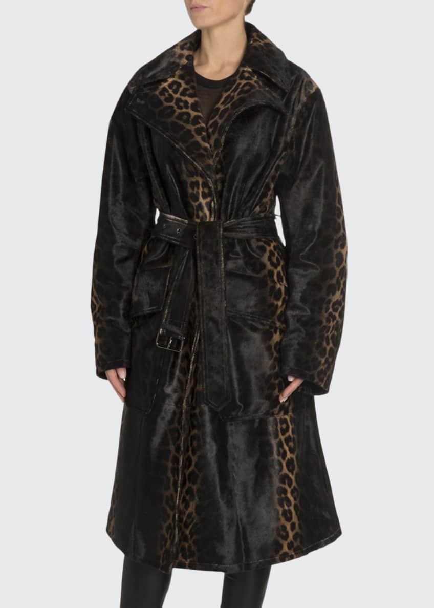 TOM FORD Handpainted Degrade Leopard Print Coat &