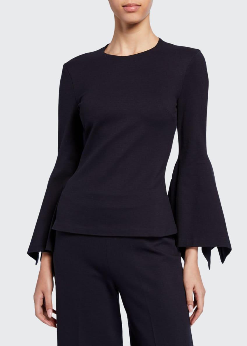 Rosetta Getty Scarf-Sleeve Jersey Top & Matching Items