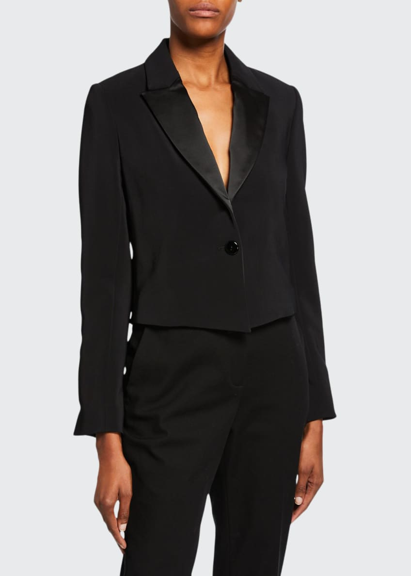 Image 1 of 4: Cropped Tuxedo Jacket