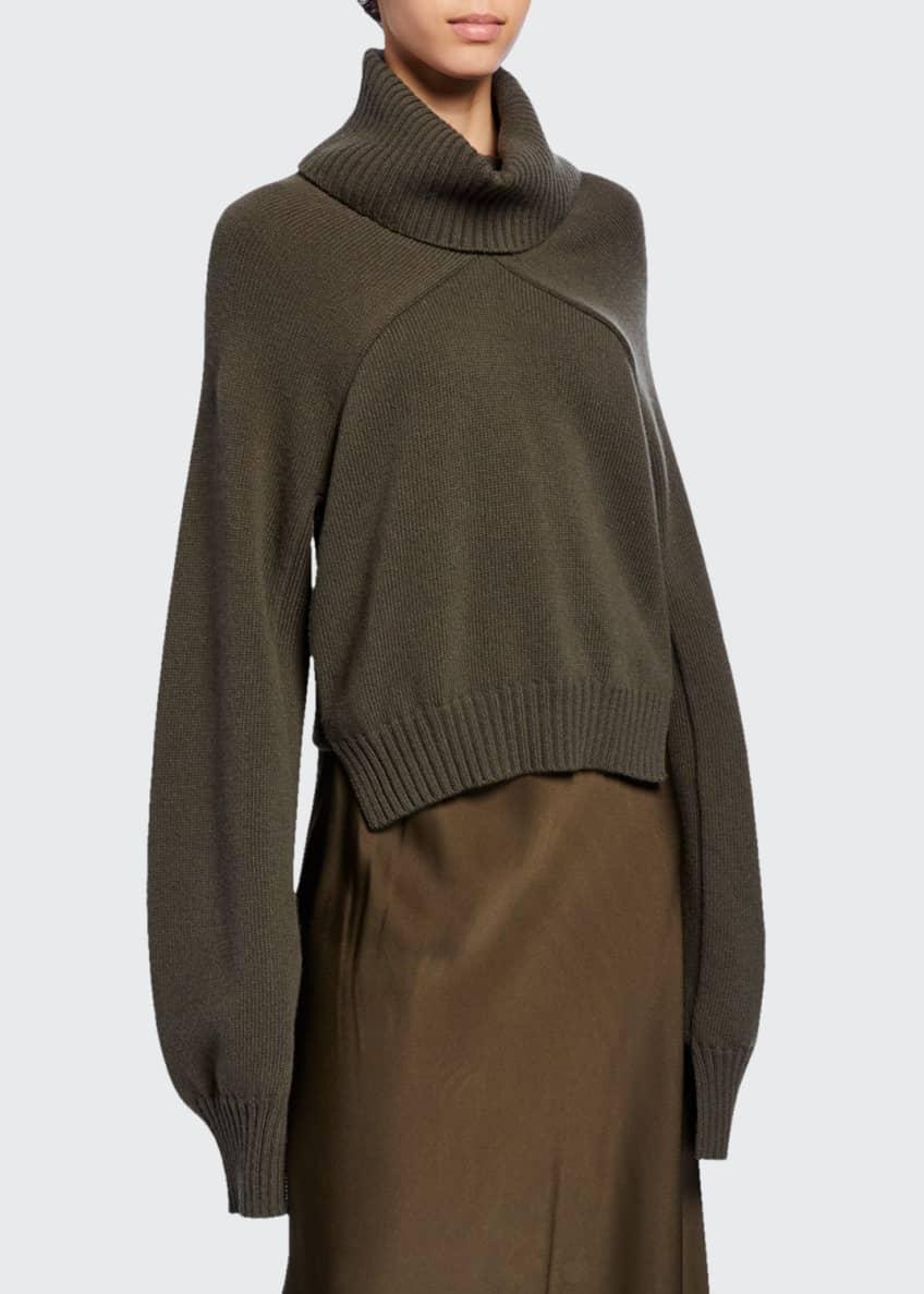 Rosetta Getty Paneled Turtleneck Crop Sweater & Matching