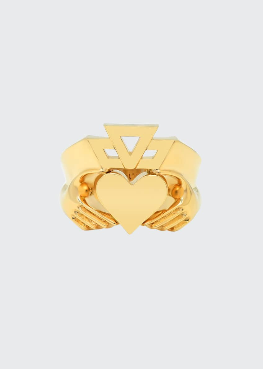 Established Jewelry 14k Yellow Gold Claddagh Ring, Size