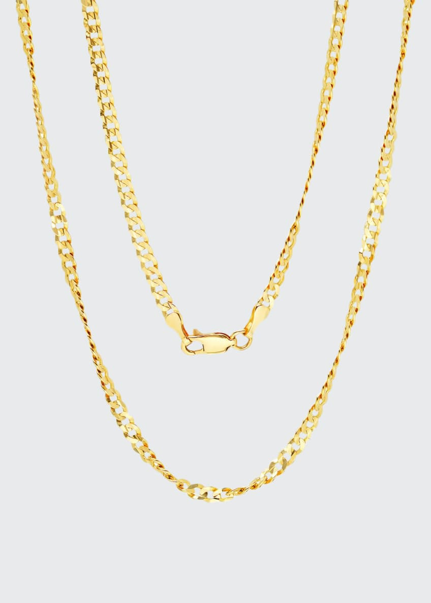 Image 1 of 1: 14k Yellow Gold Italian Chain Necklace