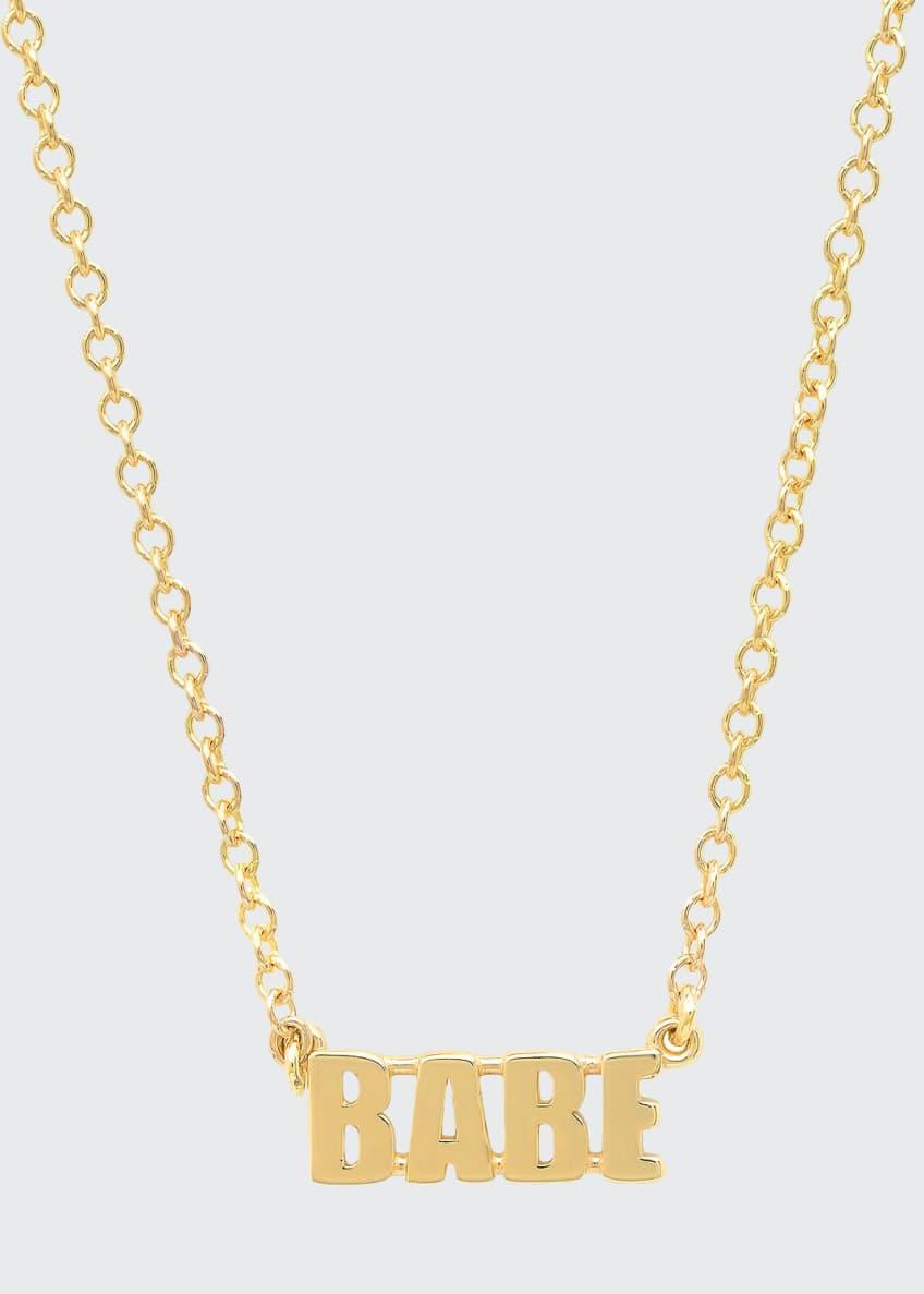 Established Jewelry 14k Gold BABE Pendant Necklace