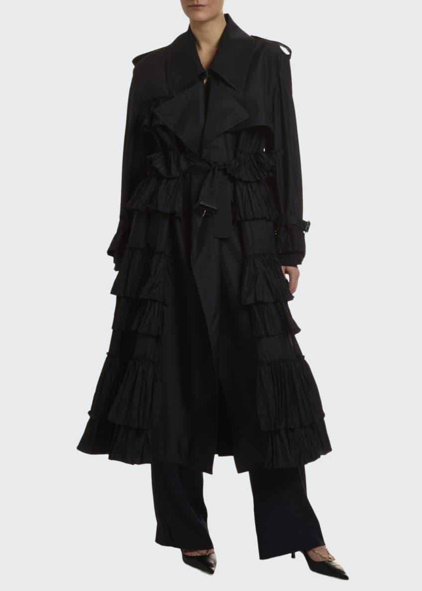 Valentino Ruffled Trench Coat & Matching Items