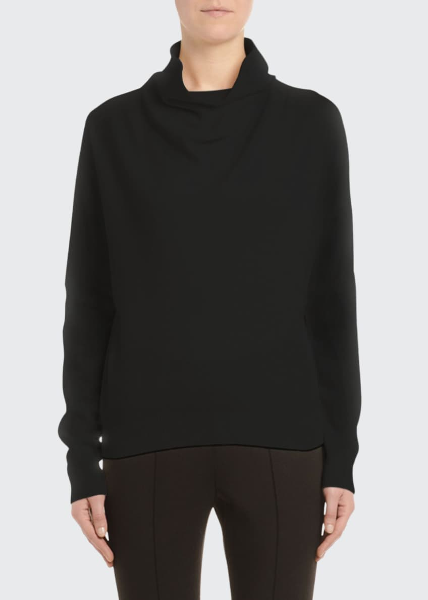 Agnona Cashmere Cowl Neck Sweater, Black & Matching