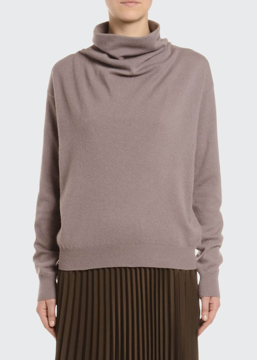 Agnona Cashmere Cowl Neck Sweater, Pink & Matching