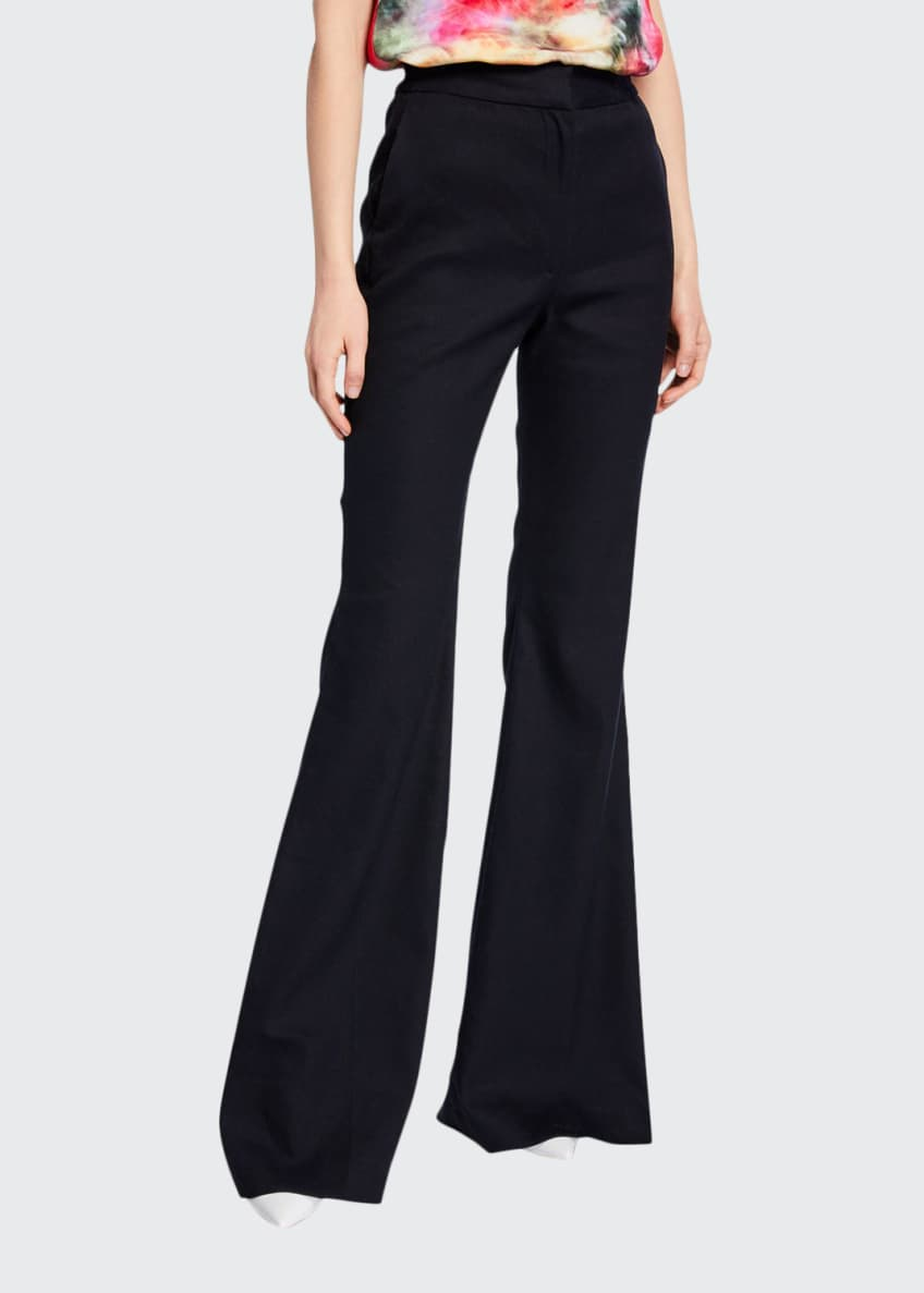 Adam Lippes Textured High-Rise Flare Pants & Matching