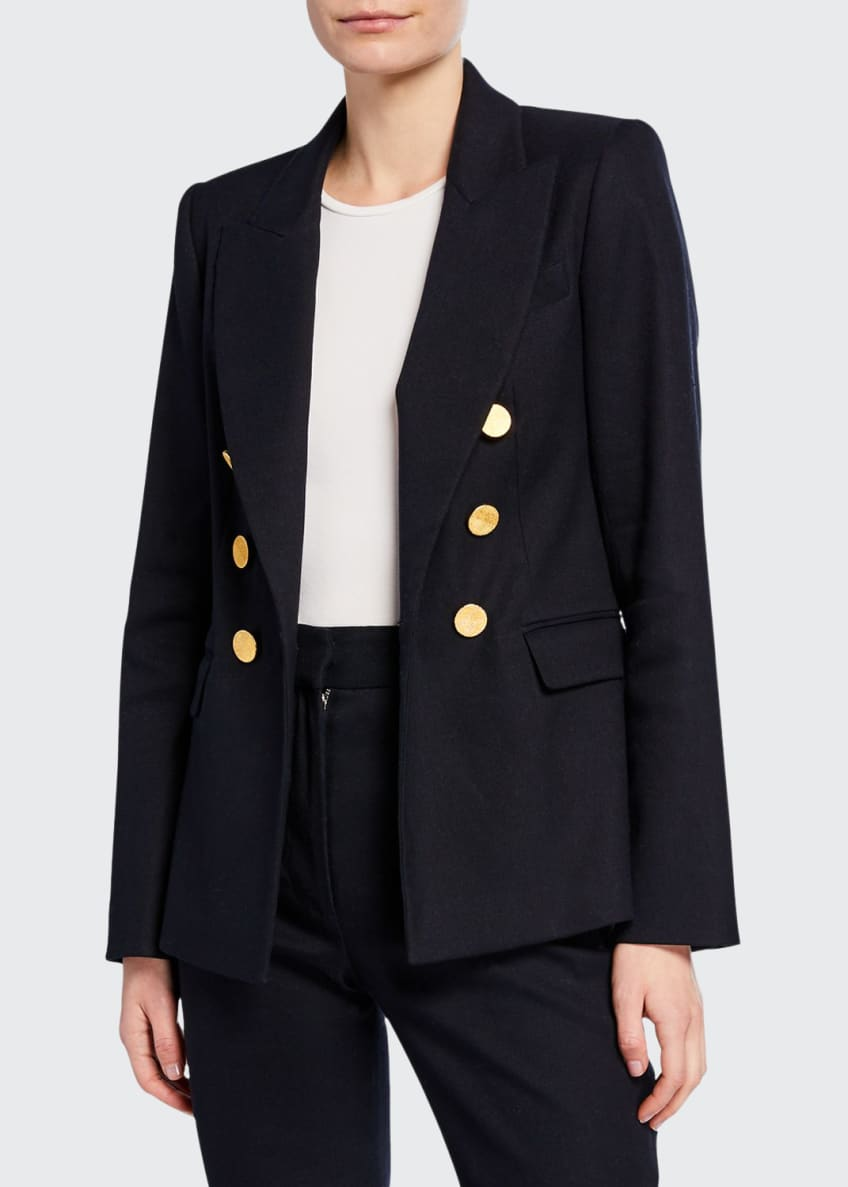 Adam Lippes Double-Breasted Textured Blazer & Matching Items