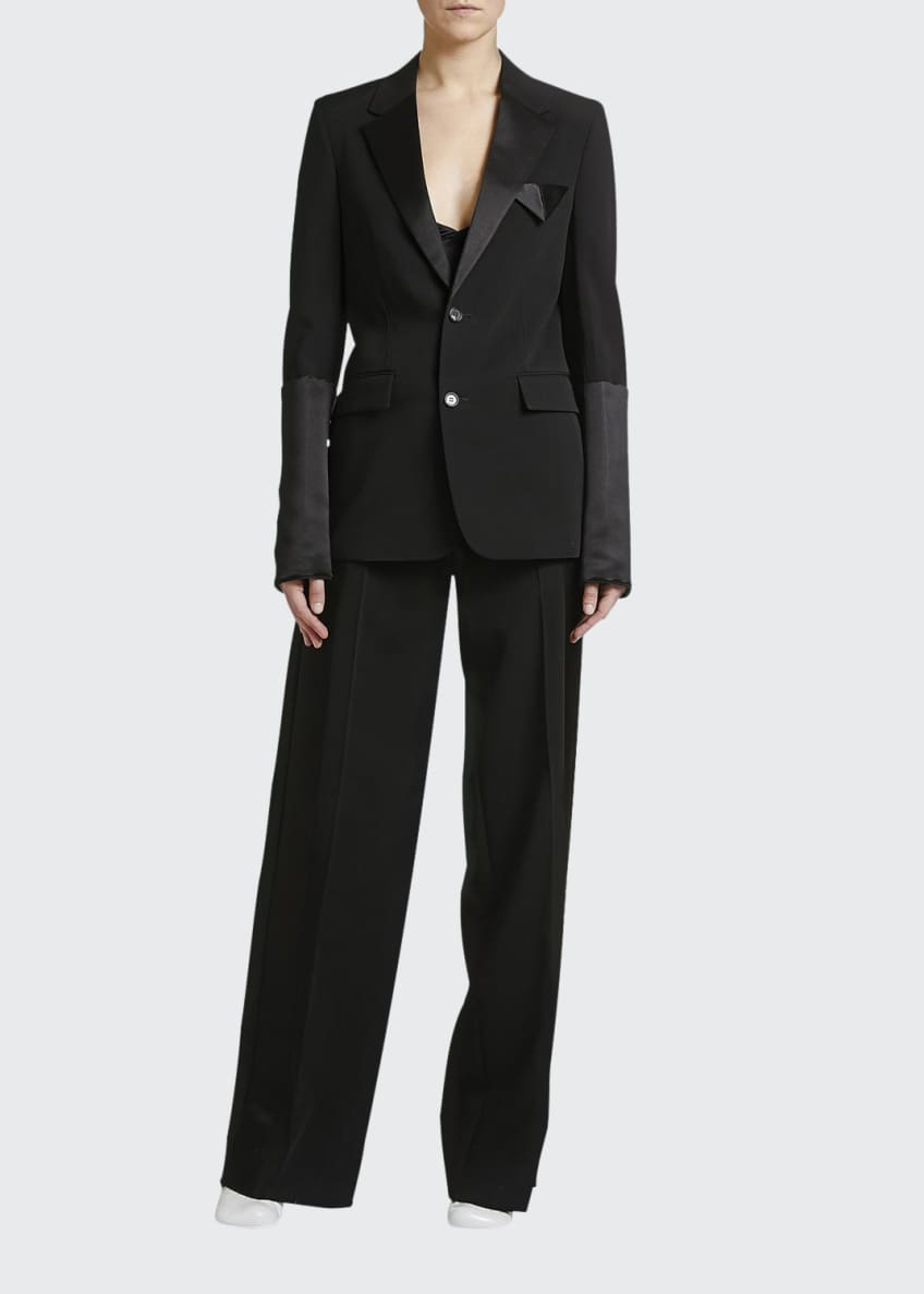 Bottega Veneta Elastic-Waist Tux Jacket & Matching Items
