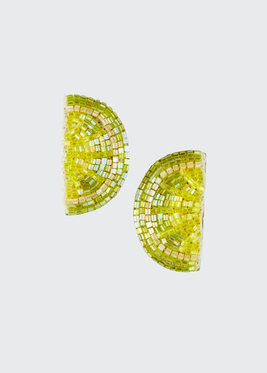 Mignonne Gavigan Lime Stud Earrings