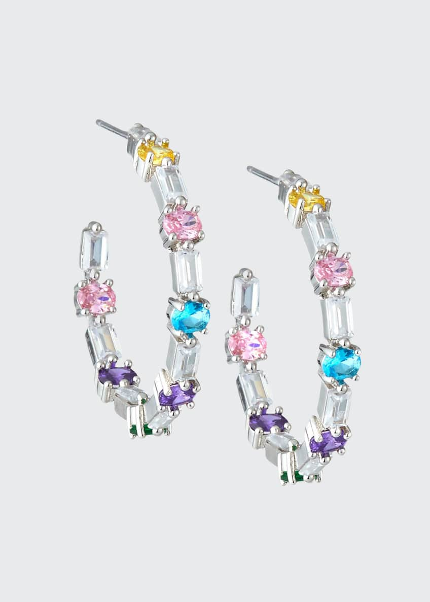 Fallon Ferris Wheel Hoop Earrings, Pastel Multicolor