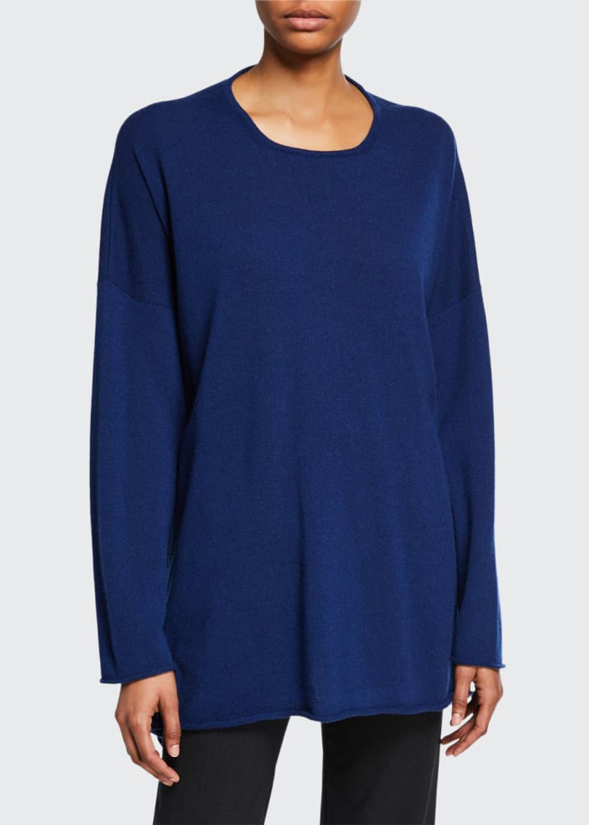 Eskandar Cashmere A-Line Bateau-Neck Sweater & Matching Items