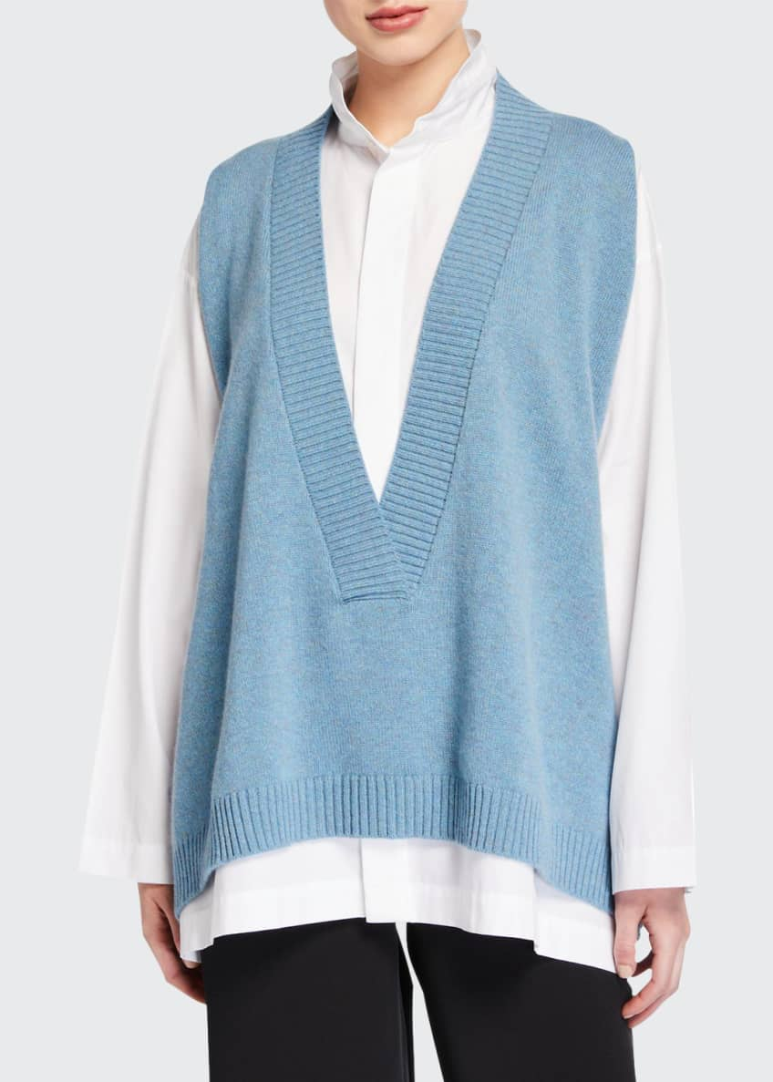 Eskandar Cashmere Deep-V Sweater Vest & Matching Items