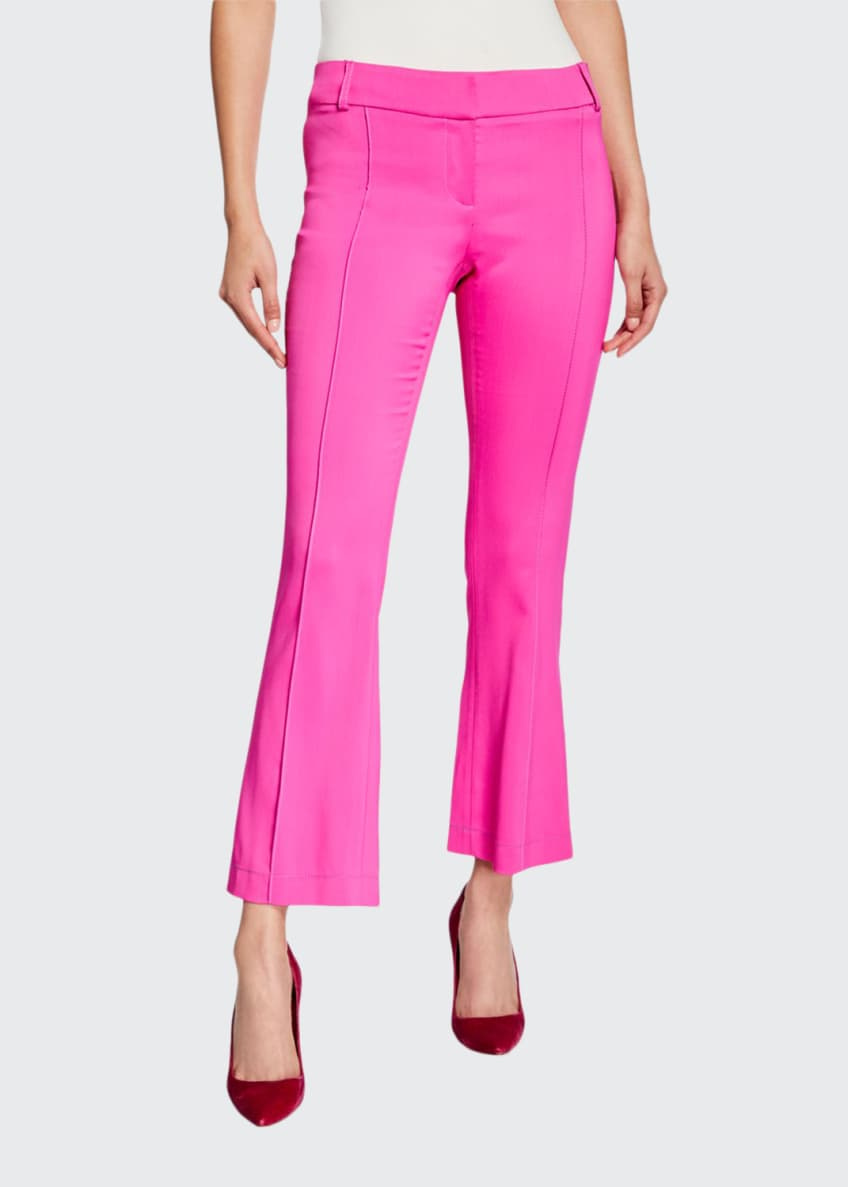 Image 1 of 3: Flare-Leg Seamed Pants