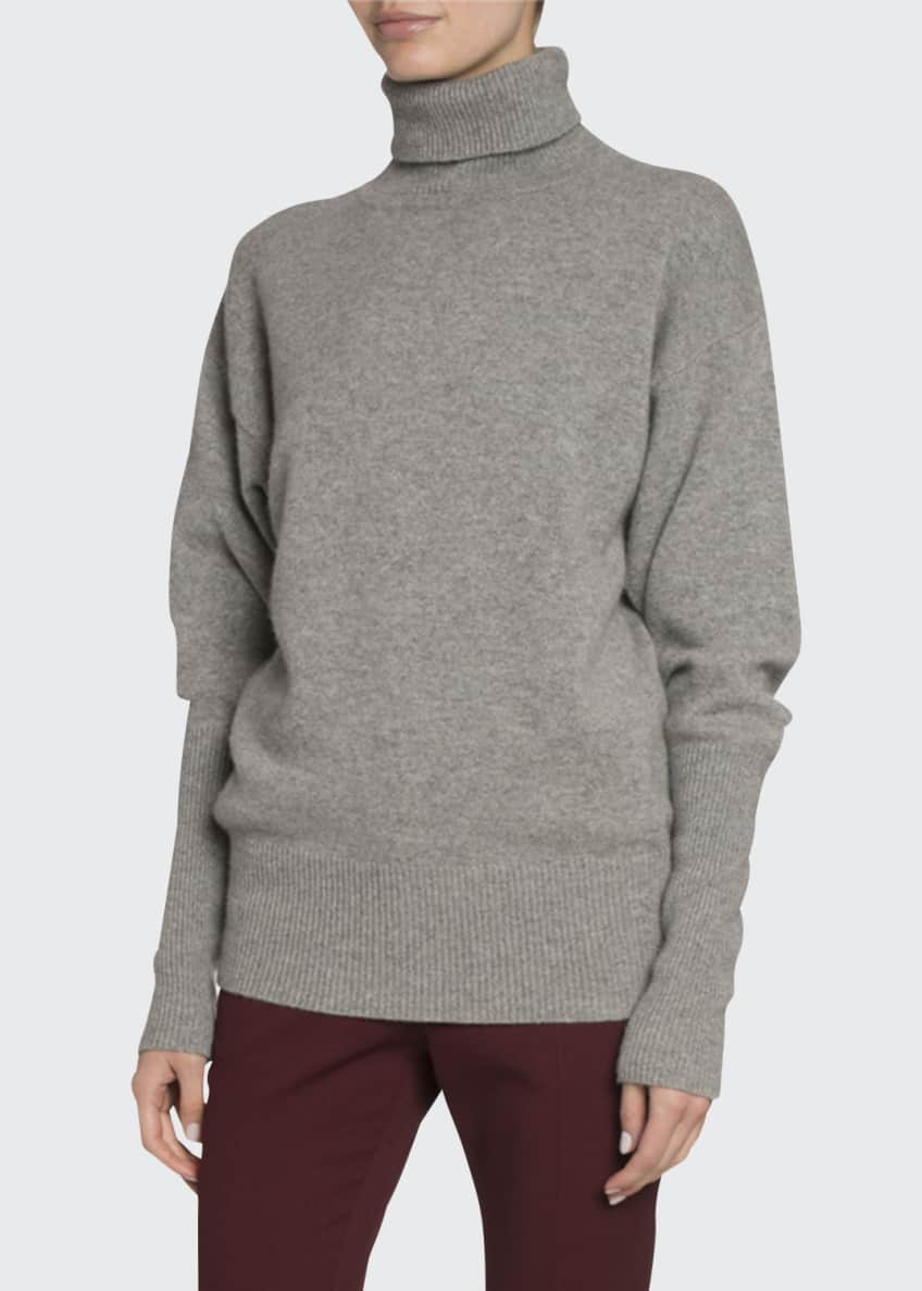 Victoria Beckham Cashmere Oversized Turtleneck Sweater & Matching