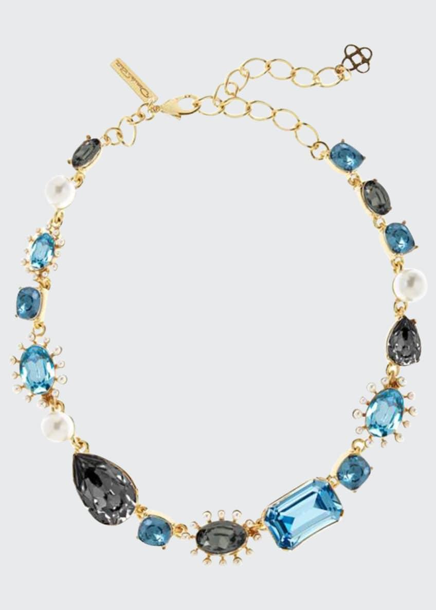 Oscar de la Renta Bold Mixed-Jewel Necklace