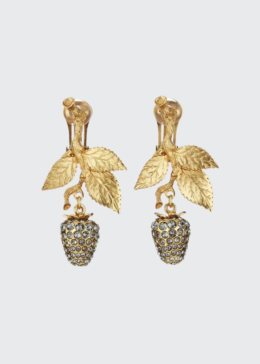 Oscar de la Renta Berry Dangle Earrings