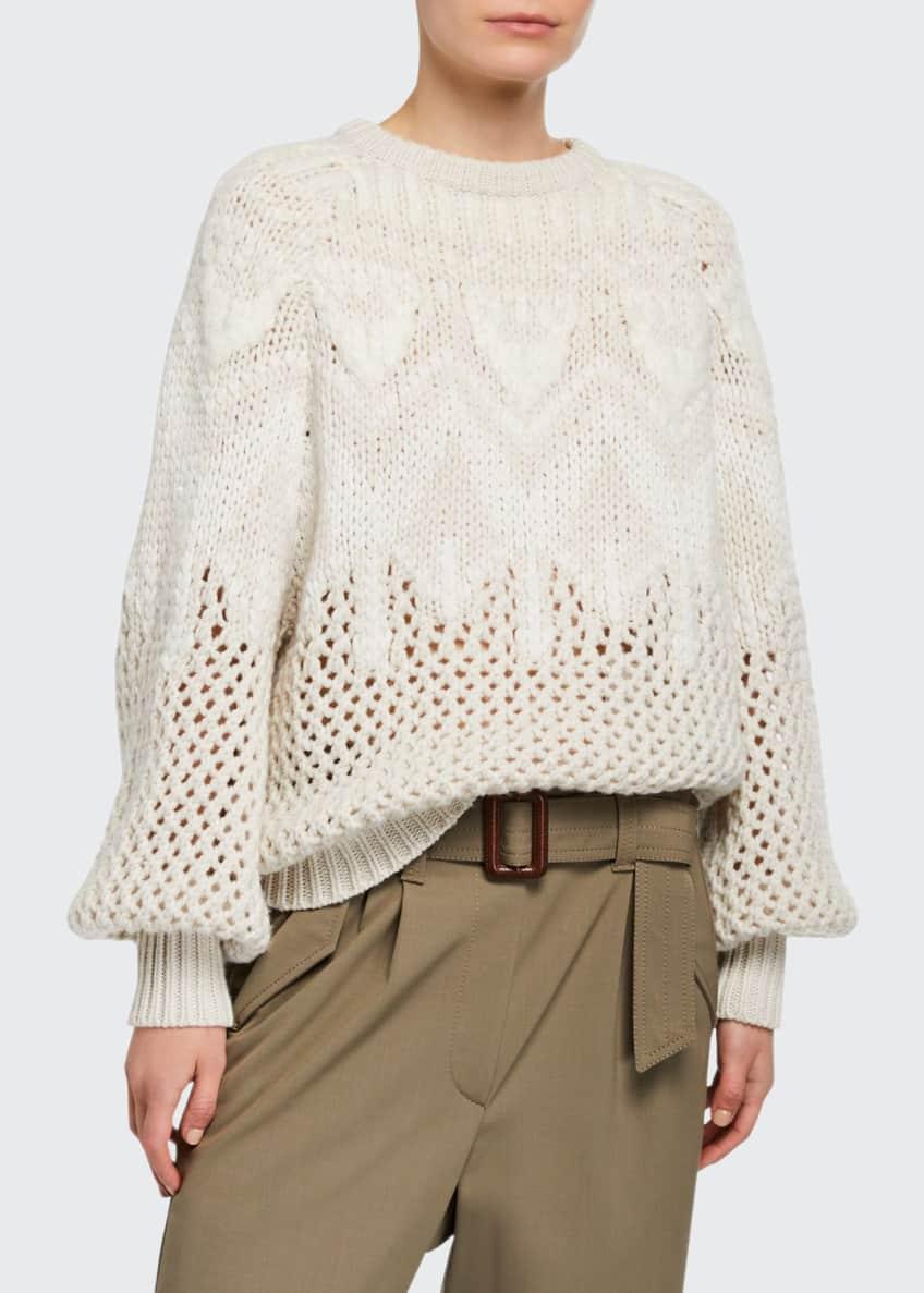Brunello Cucinelli Cashmere Hand Opera-Knit Sweater & Matching