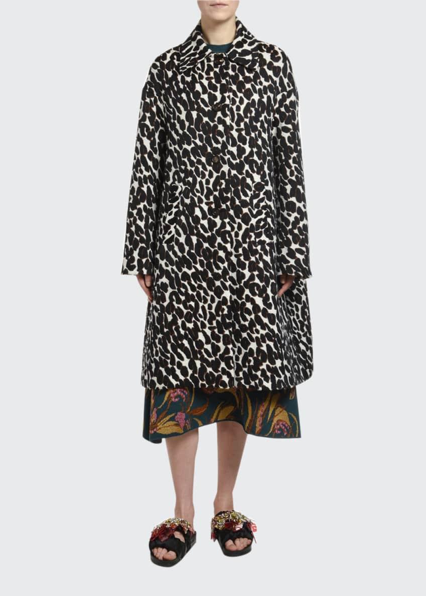 Double J Animal-Print Boxy Coat & Matching Items