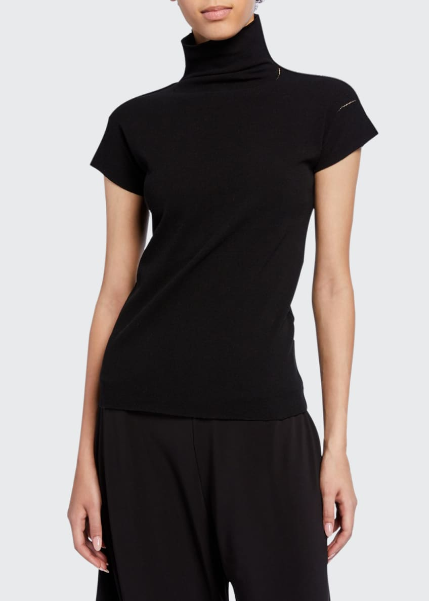 Issey Miyake Cotton Baguette Turtleneck Top & Matching