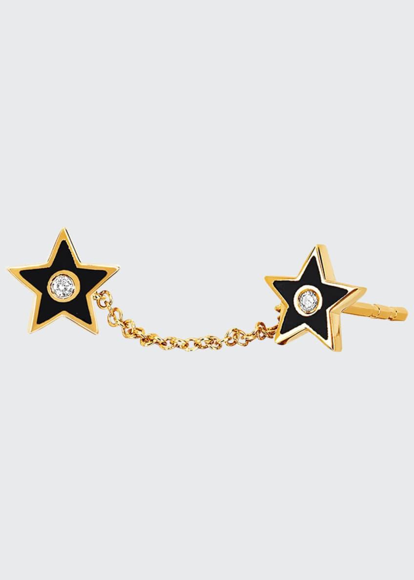 EF Collection 14k Diamond & Enamel Double-Star Chain