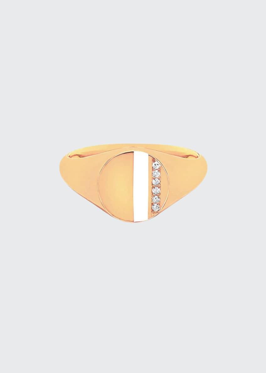 EF Collection 14k Diamond & Enamel Stripe Ring,