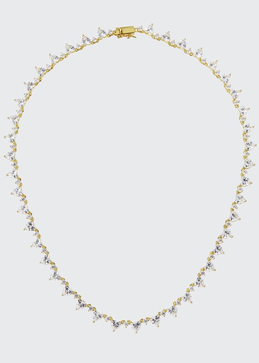 Fallon Micro Heart Riviere Collar
