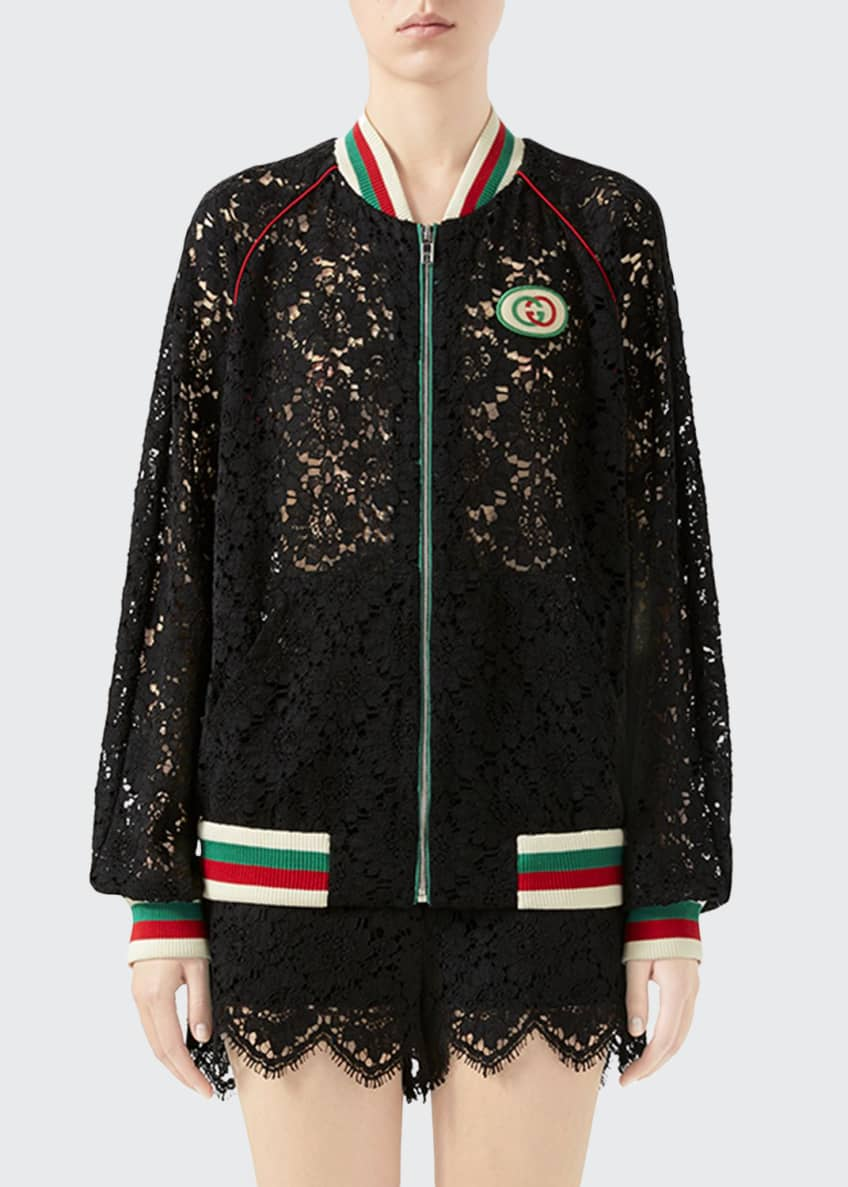 Gucci Flower Lace Bomber Jacket & Matching Items