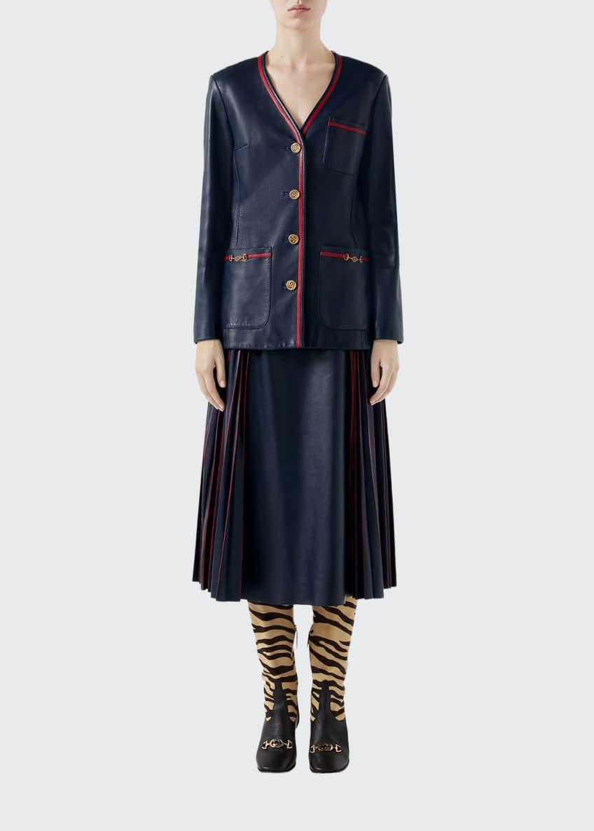 Gucci Plonge Leather Jacket & Matching Items