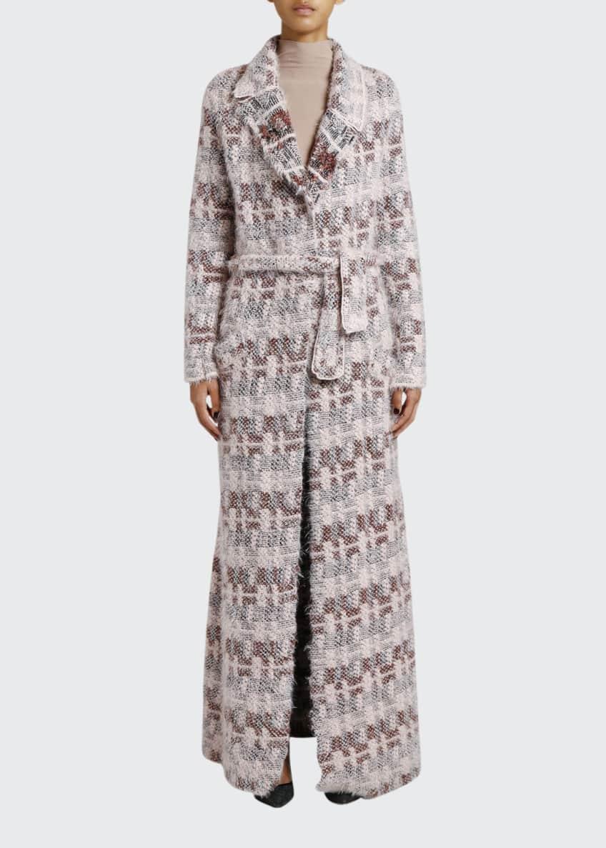 Giorgio Armani Floating-Stitch Belted Long Coat & Matching