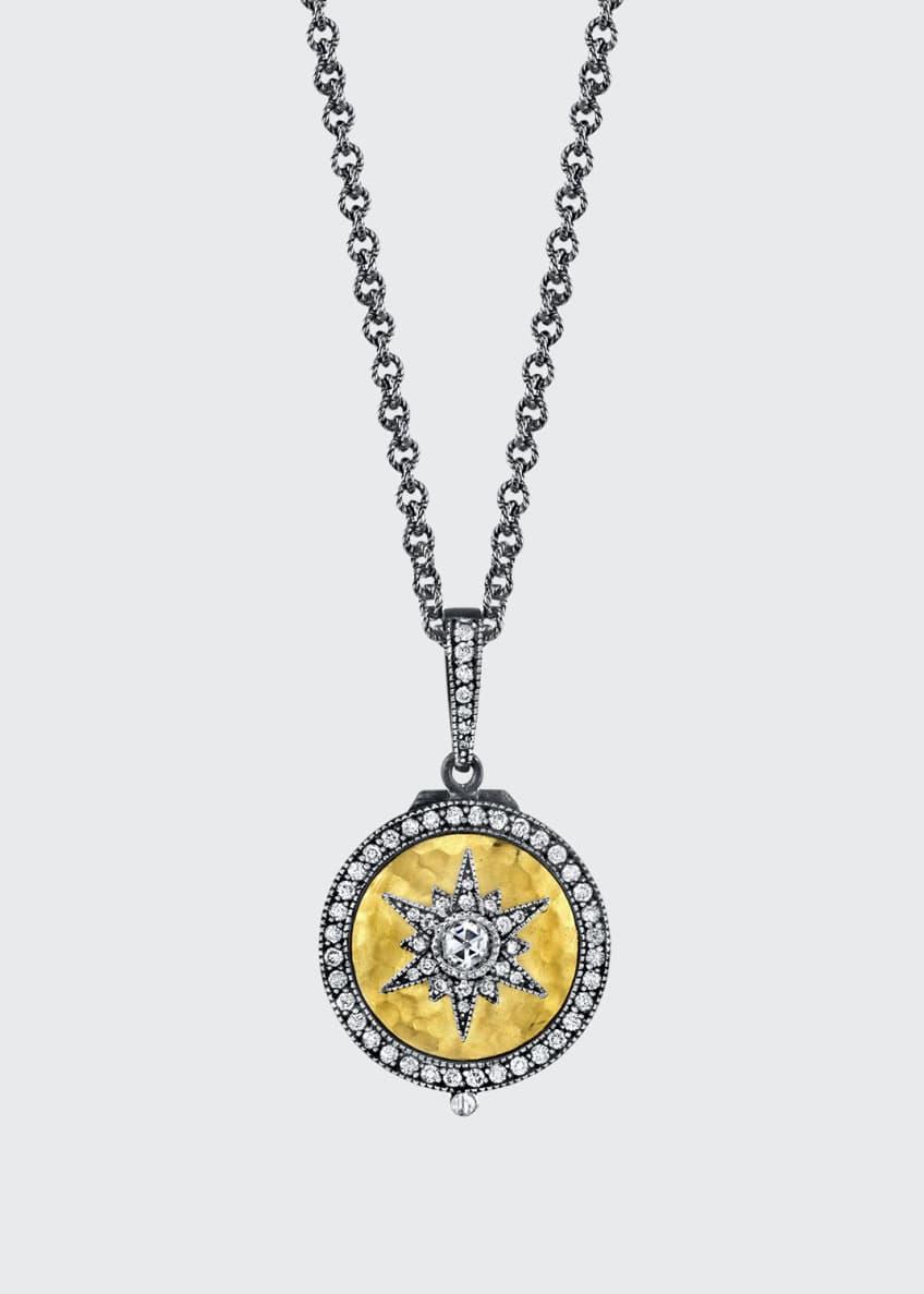 Arman Sarkisyan Round Diamond Starburst Locket Necklace