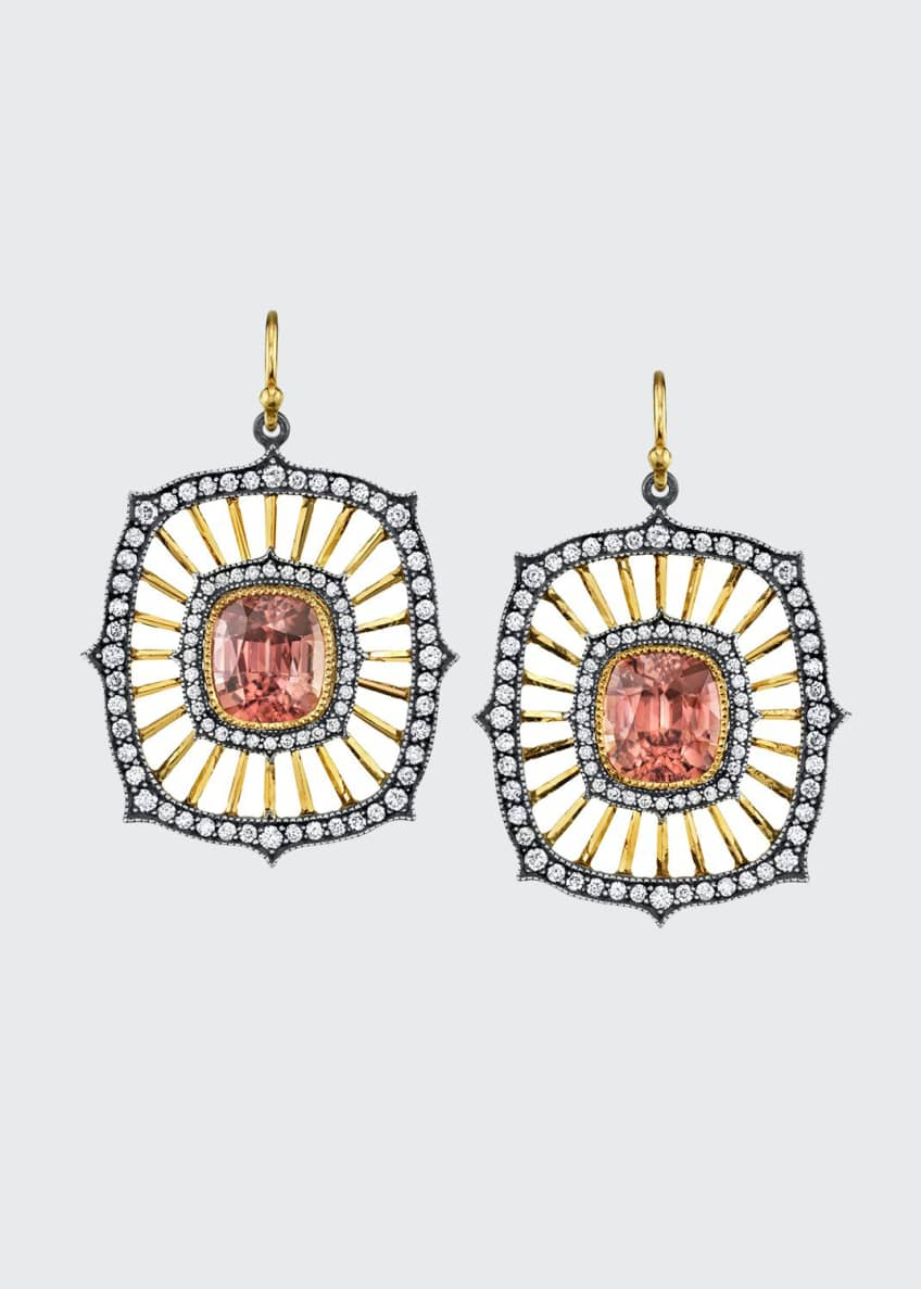 Arman Sarkisyan Zircon Deco-Drop Earrings