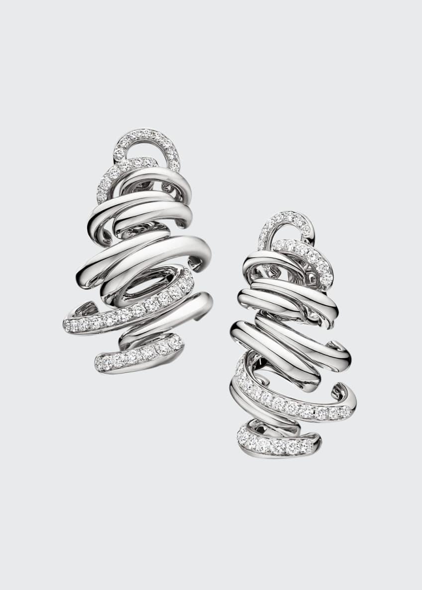 De Grisogono Vortice 18k White Gold Earrings w/