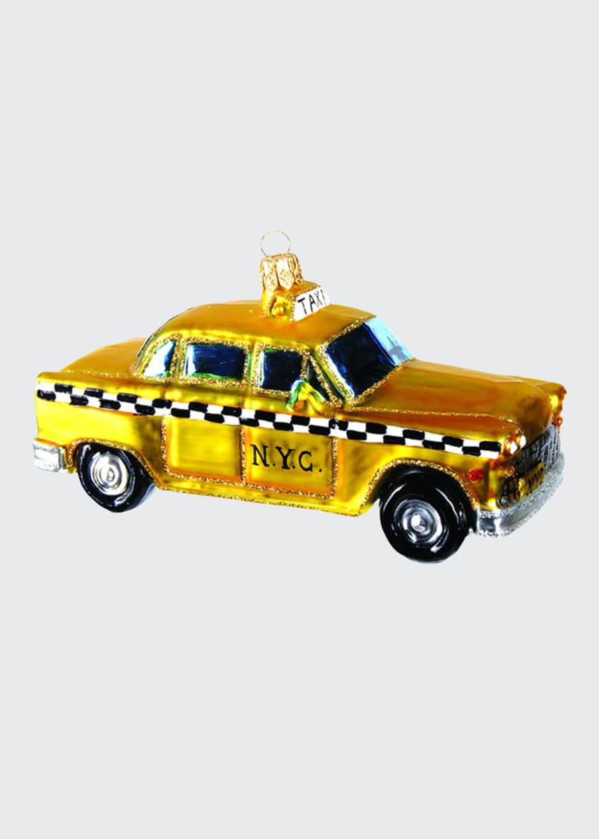Image 1 of 1: NY Taxi Christmas Ornament