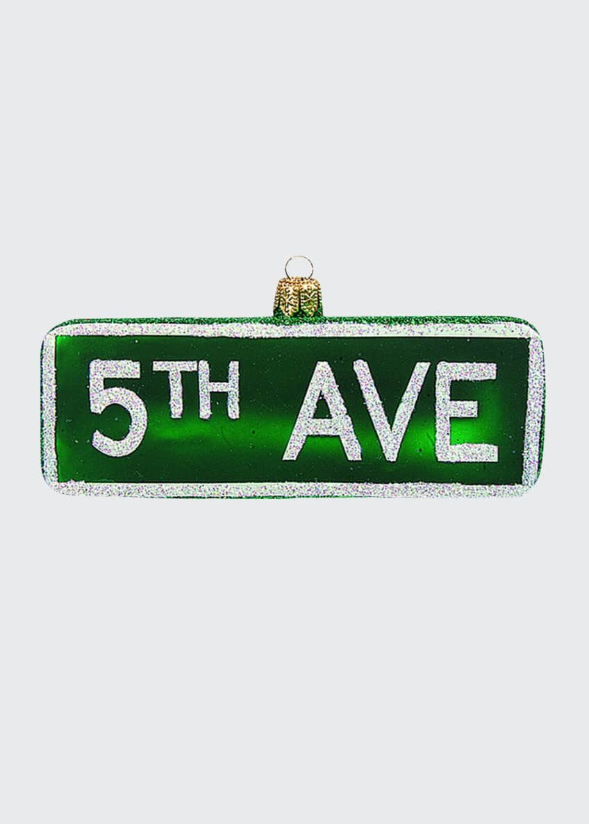 Image 1 of 1: 5Th Ave Sign Christmas Ornament