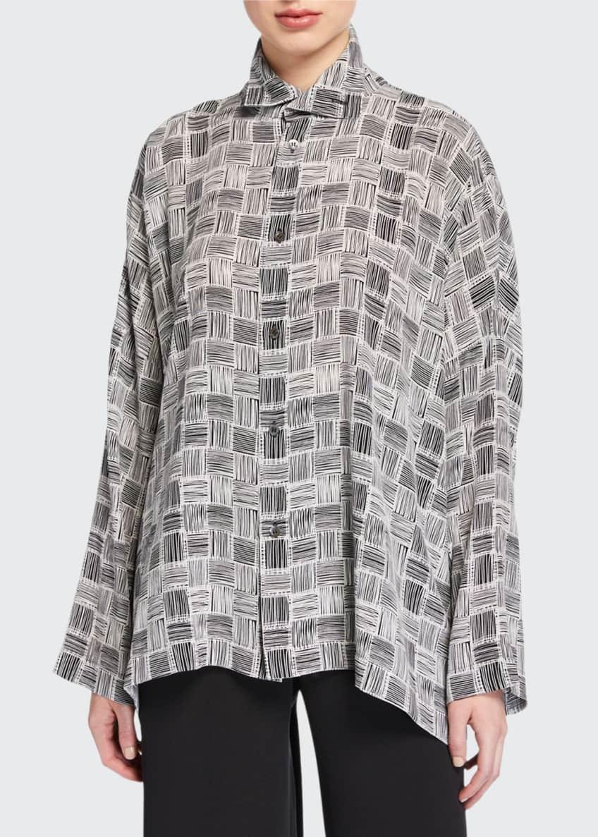 Eskandar wide scrunch neck shirt & Matching Items