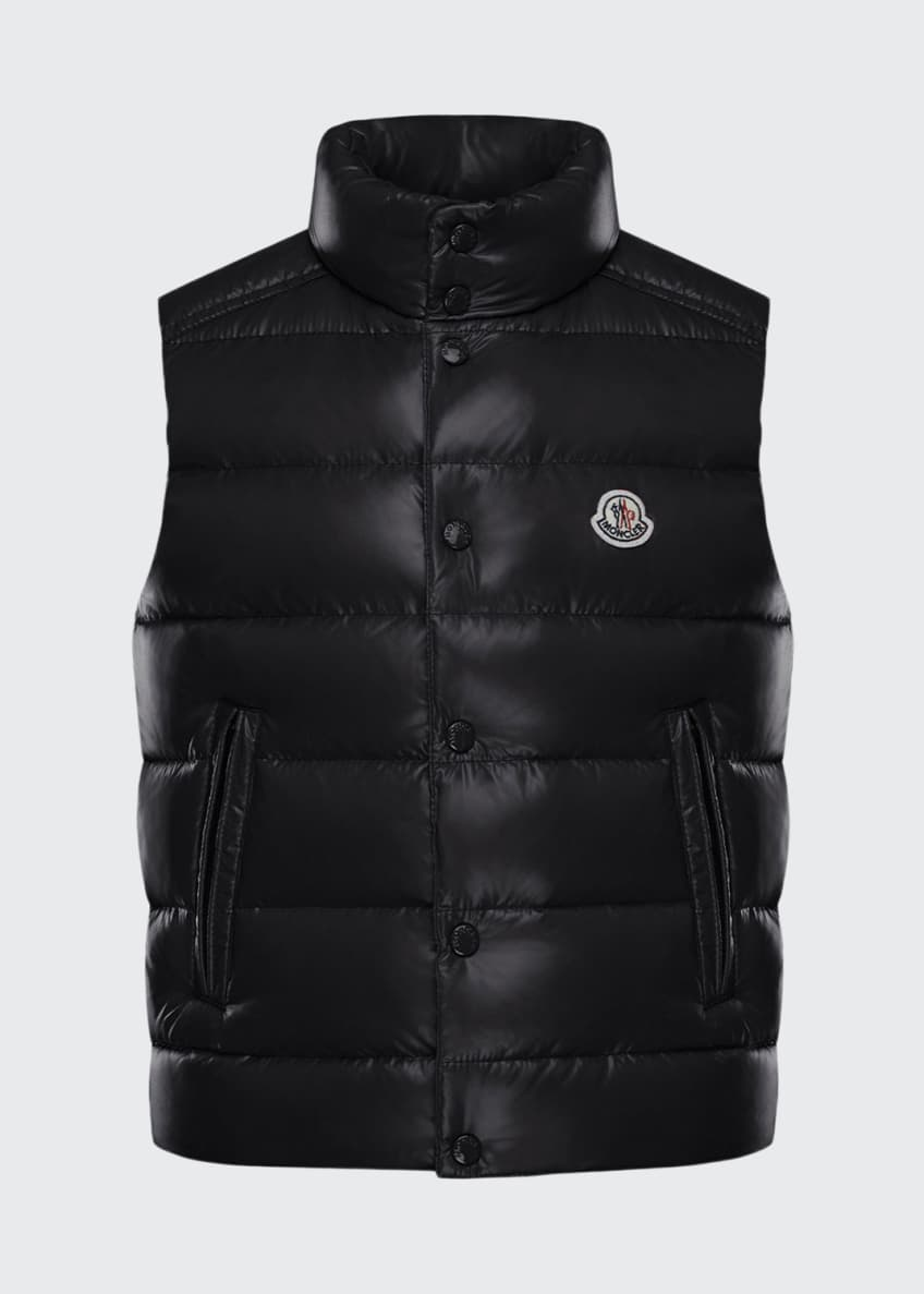 Image 1 of 2: Quilted Nylon Snap-Front Puffer Vest, Size 8-14