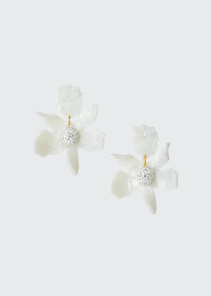 Image 1 of 2: Crystal Lily Earrings