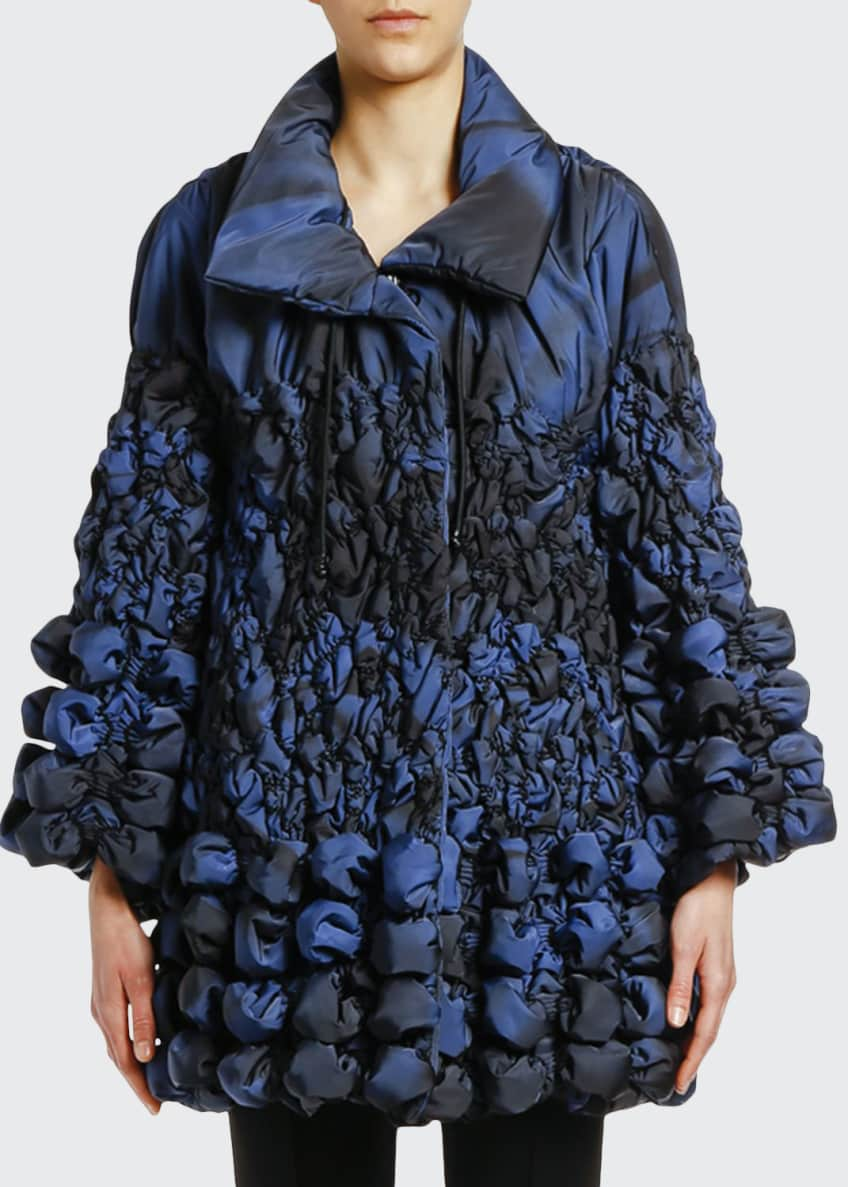 Giorgio Armani Degrade Bubble-Quilted Puffer Coat & Matching