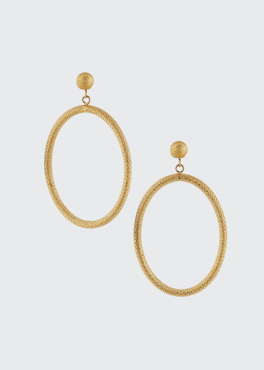 Carolina Bucci 18k Large Oval Gypsy Earrings