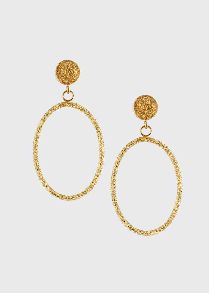 Carolina Bucci Florentine 18k Small Oval-Drop Earrings