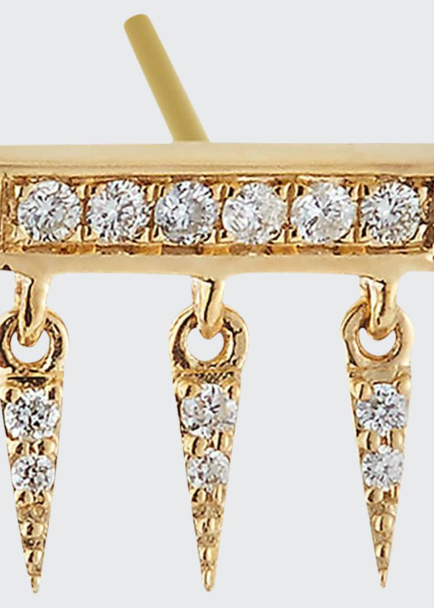 Sydney Evan 14k Diamond Pave Bar Fringe Stud