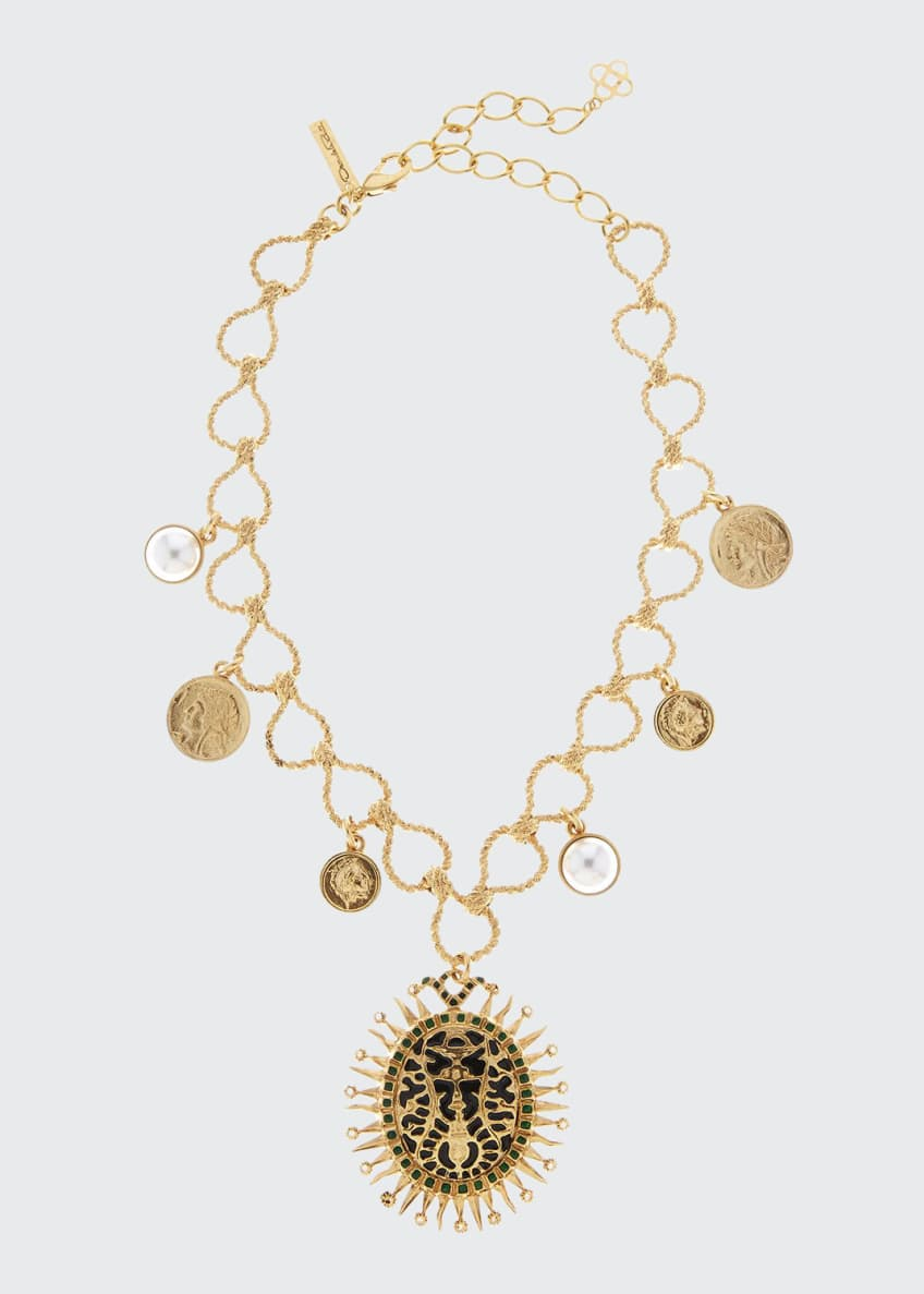 Oscar de la Renta Decorative Medallion Necklace